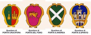 Stemmi dei quartieri di Arezzo