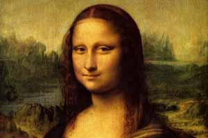 La Monna Lisa con lo sfondo di Ponte Buriano