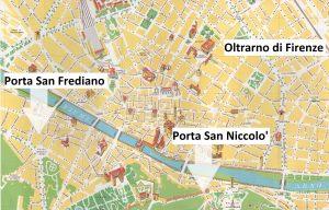 9) Piantina zona Oltrarno